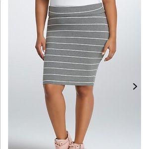 Torrid striped green midi skirt